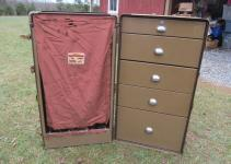 Wheary Travel Trunk Steamer Wardrobe Drawers Dresser