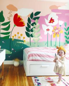 Whimsical Mural Girls Bedroom Little Street