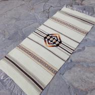 White Handwoven Boho Rug Unique Stylish