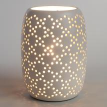 White Pierced Ceramic Table Lamp World Market