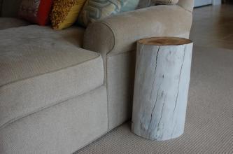 White Tree Stump Table Reclaimed Wood Sumsouthernsunshine