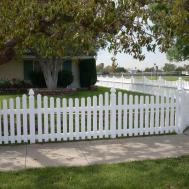 White Vinyl Picket Fence Yelp