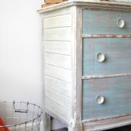 Whitewashed Coastal Inspired Dresser Helen Nichole Designs