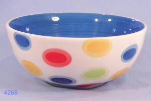 Whittard Hand Painted Striped Cereal Bowl Soup