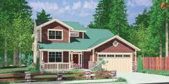Wide Narrow Lot House Plan Master Main Floor
