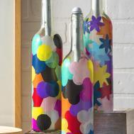 Wine Bottle Crafts Light Bottles Mod Podge Rocks