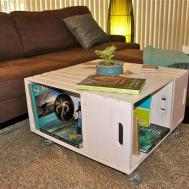 Wine Crate Coffee Table Original Creative Ideas