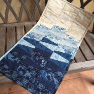 Winter Blue Ombre Quilted Wall Hanging Table Knjstudio