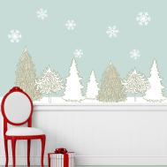 Winter Wonderland Decal Set Holiday Wall Decor Stickers