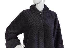 Women Slenderella Luxury Texture Effect Bed Jacket Fleece