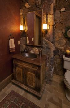 Wonderful Rustic Bathroom Lighting Ideas Home