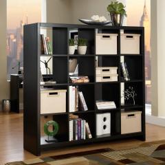 Wondrous Partition Rooms Ideas Black Bookcase