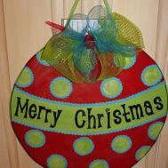 Wood Christmas Ornament Door Hanger Asoutherncreation