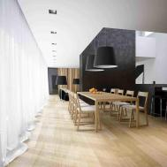 Wood Feature Wall Dining Room Siudy