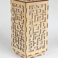 Wooden Lamp Decorative Laser Cut Wood Table