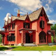 Woodstock 1846 Roseland Cottage Stock Photos