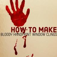 Yourself Bloody Handprint Window Clings Feltmagnet