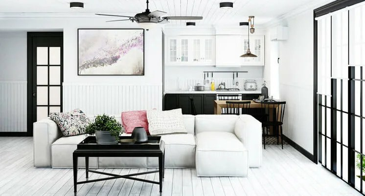 Classic And Chic Black And White Living Room Decor Decorilla Online