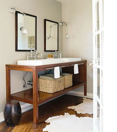 double sink console contemporary