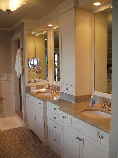 PIstachio Marble Countertops Transitional Bathroom Teresa Meyer Interiors