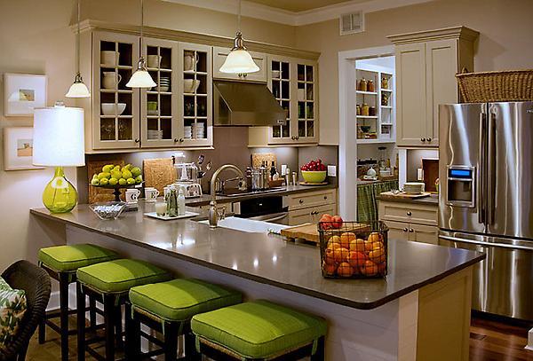 Small KItchen Design - Cottage - kitchen - HGTV on Counter Top Decor  id=24298