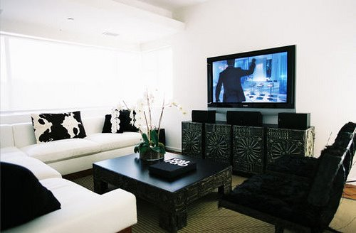Black And White Living Room Design Ideas