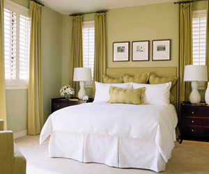 Green And Gold Bedroom   House Beautiful   House Beautiful Green And Gold Bedroom Ideas