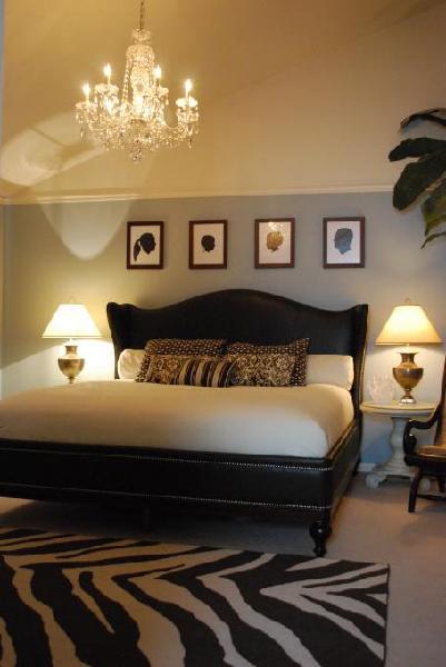 Furniture, bed, bedroom, room, bookcase, interior design, shelving, shelf. brown, cream and blue master - Bedroom Designs