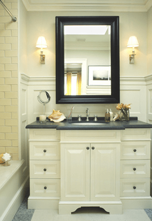 Cream Washstand Transitional Bathroom McGill Design