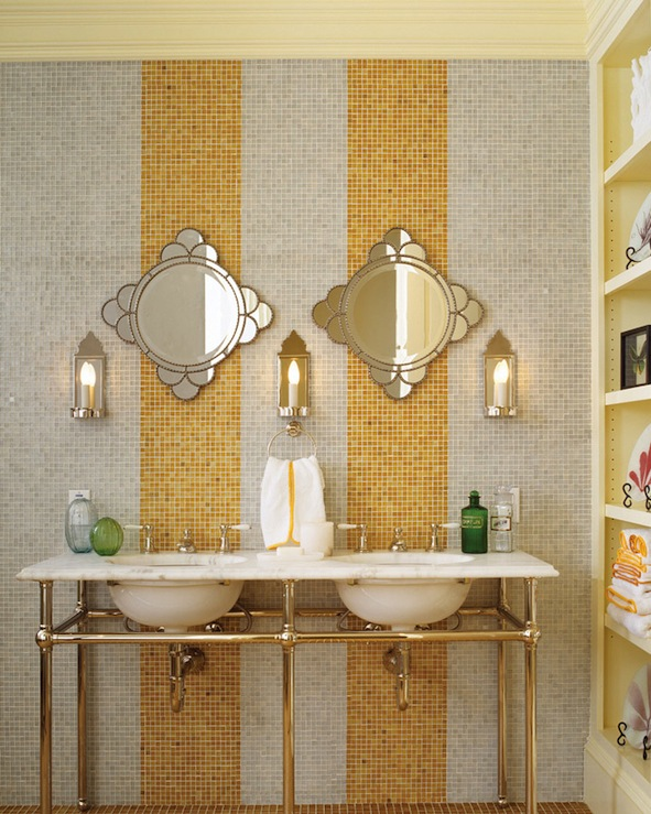 gray and yellow bathroom - contemporary - bathroom - jeffers