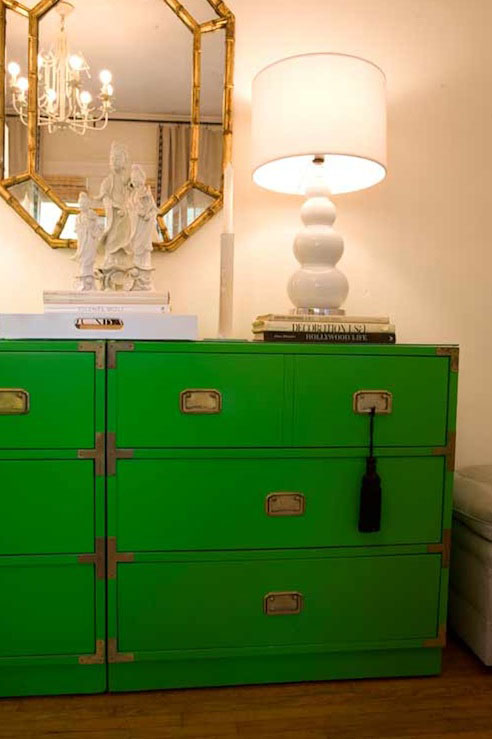 Turquoise LA - living rooms - campaign chest, green campaign chest, campaign nightstand, green campaign nightstand, campaign dresser, green campaign dresser,