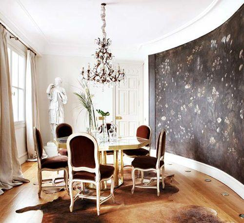 Velvet Dining Chairs Eclectic Dining Room My Home Ideas
