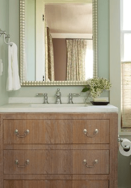 Wire Brushed Oak Vanity Transitional Bathroom Angie Hranowsky
