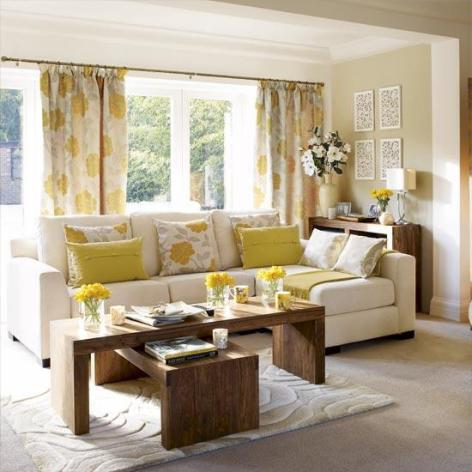 living rooms - curtains, yellow, brown, yellow and gray curtains, yellow and gray drapes, yellow and gray window panels, gray and yellow curtains, gray and yellow drapes, gray and yellow window panels,