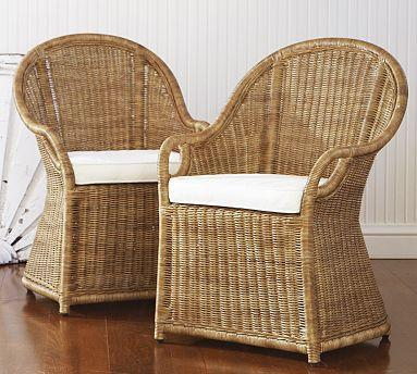 Wingate Rattan Dining Armchair Pottery Barn