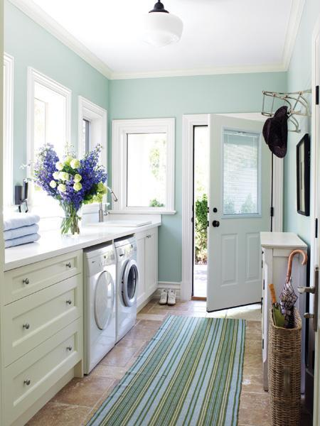 laundry room in mud room contemporary laundry room bhg on best laundry room paint color ideas with wood trim id=50135