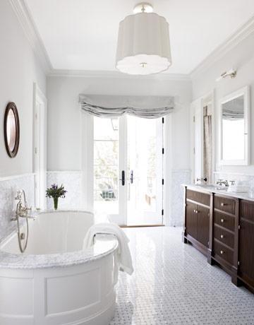 Oval Bathtub Ideas Transitional Bathroom James