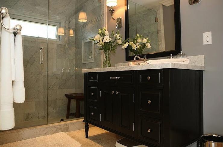 black vanity - contemporary - bathroom - jeff lewis design