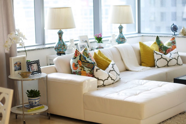 White Leather Sectional Living Room Ideas wwwcintronbeveragegroupcom