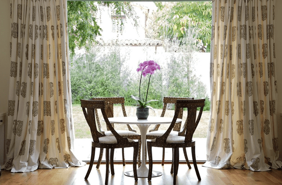 Medallion Drapes Cottage Dining Room Nicole Yee