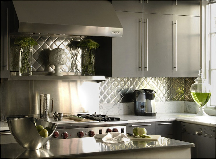 Gray Frameless Cabinets Contemporary Kitchen