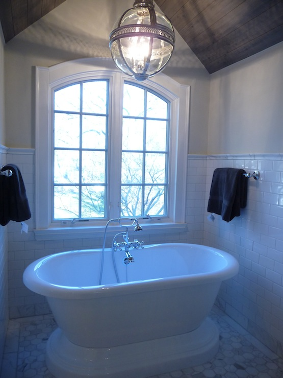 Bathtub Nook Transitional Bathroom Benjamin Moore