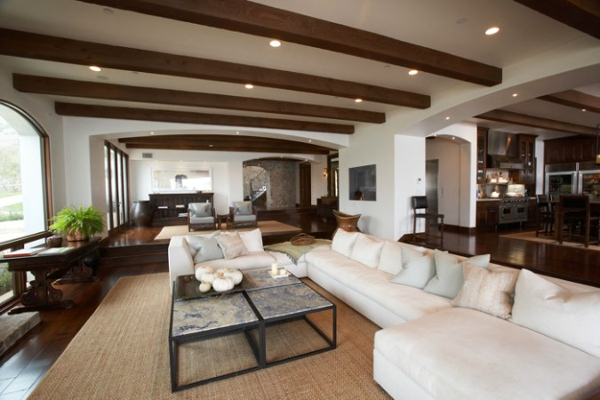 Exposed Wood Beams Ceiling   Transitional   living room   Windsor     Exposed Wood Beams Ceiling