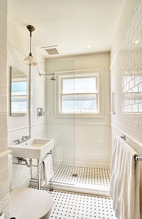 Subway Tile Shower Traditional Bathroom Bosworth