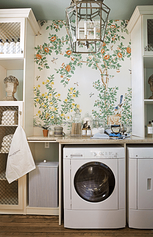 whimsical laundry room transitional laundry room on laundry room wall covering ideas id=64326