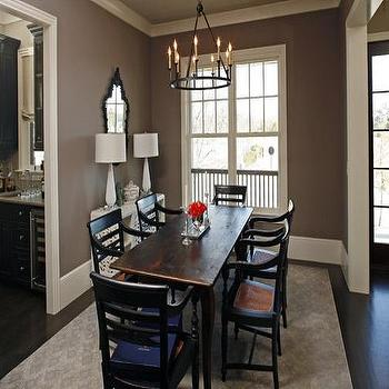 Taupe Paint Contemporary Dining Room Sherwin