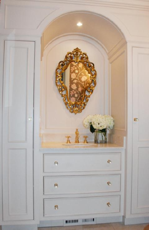 Ornate Gold Mirror French Bathroom Benjamin Moore