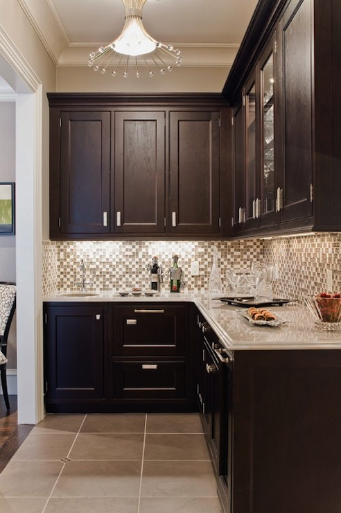 Glass Tile Backsplash Contemporary Kitchen Venegas