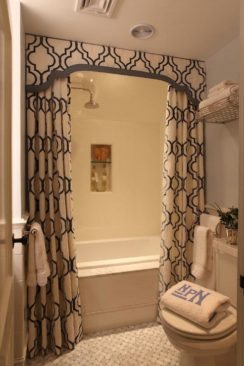 double shower curtains transitional
