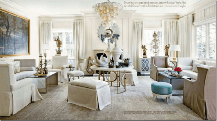 Cote De Texas Luxurious Living Room